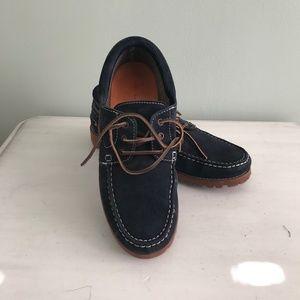 Zara Man navy suede shoes